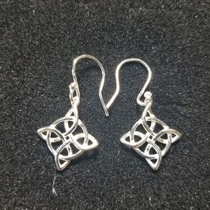 Sterling silver Celtic star earrings.